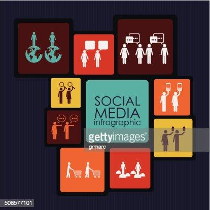 Social Media Infographic : Vektorgrafik