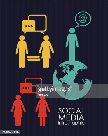 Infografica Social Media : Arte vettoriale