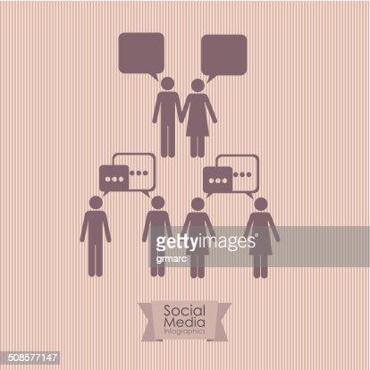 Social Media Infographic : Vectorkunst