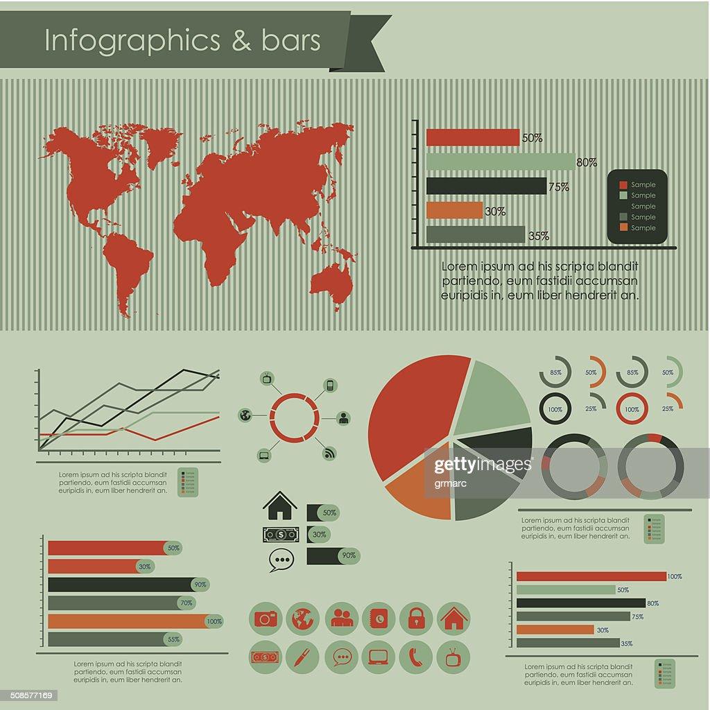 ソーシャルメディアのインフォグラフィック : ベクトルアート