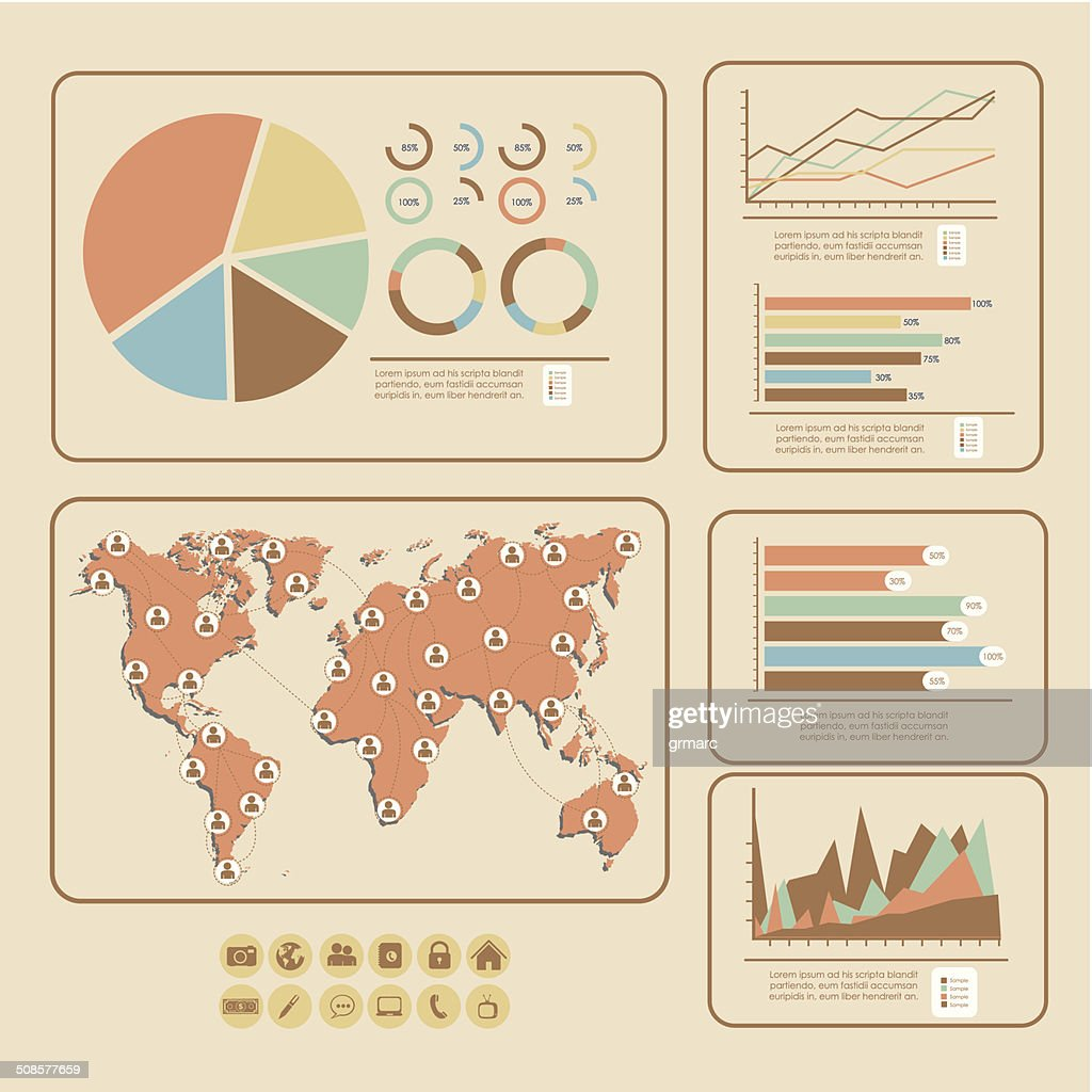 Social Media Infographic : Vector Art