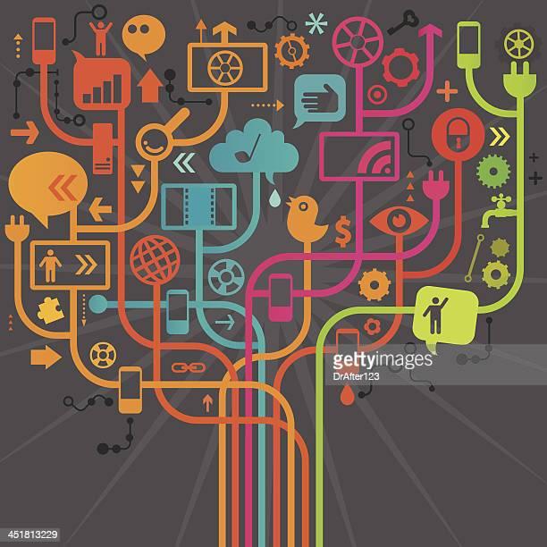 Social Media Tree Design