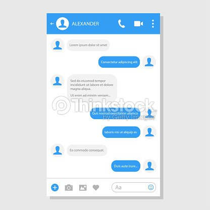 social network messenger page template vector art thinkstock