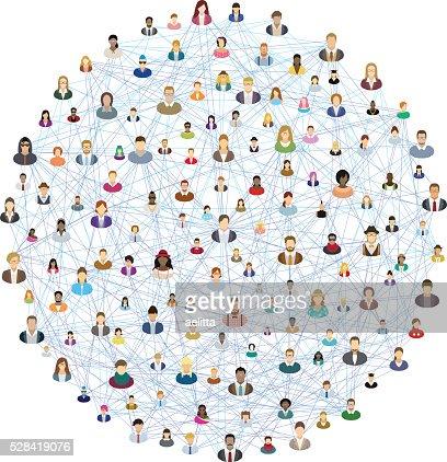 Social network sphere : Vector Art
