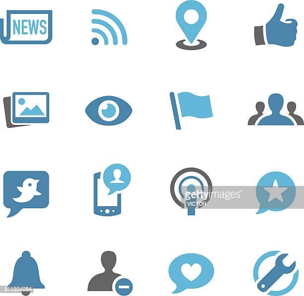 Icônes de réseaux sociaux-américain Conc Série