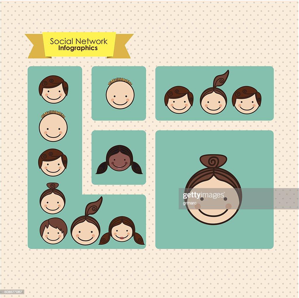 Infografiken für social Networking : Vektorgrafik