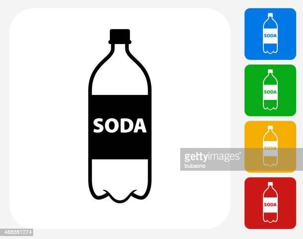 Soda Bottle Icon Flat Graphic Design