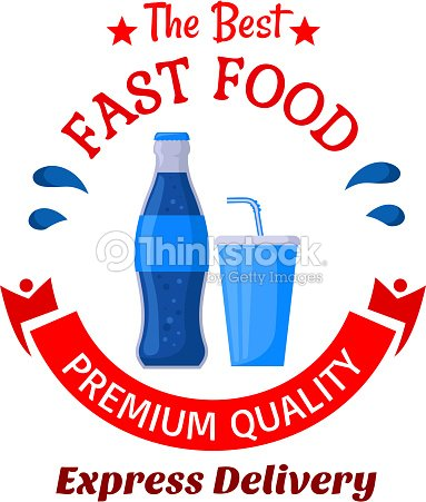 Soda Drinks Symbol For Fast Food Cafe Design Vector Art Thinkstock