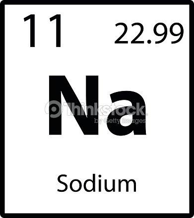 Sodium periodic table element icon on white background vector vector sodium periodic table element icon on white background vector vector art urtaz Choice Image