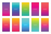 Soft color background. Modern screen vector design for mobile app. Soft color gradients.