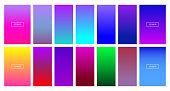 Soft color background - Modern screen vector design for mobile app - Soft color gradients - Vector EPS 10
