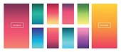 Soft color background. Modern screen vector design for mobile app. Soft color abstract gradients.
