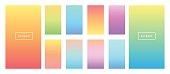 Soft color background. Modern screen vector design for mobile app. Soft color pastel gradients.
