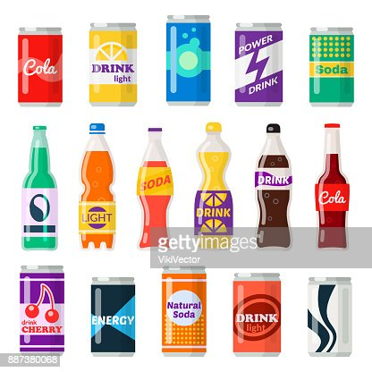 Soft drinks bottles : Arte vetorial