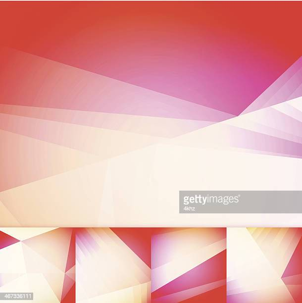 Soft Red Geometric Graphic Art Layout Template Abstract Vector Background