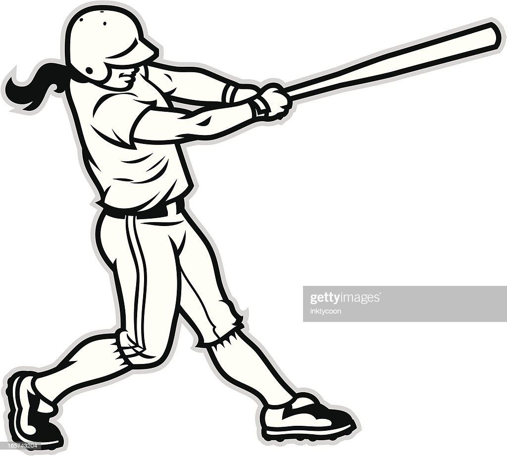 Softball Batter Vector Art Getty Images