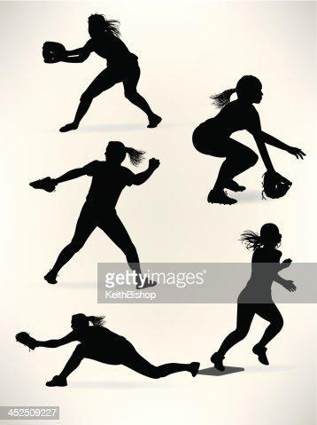 Softball Players Girl Athletes Allstars Vector Art Getty