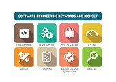 Software Engineering Flat Icon Set