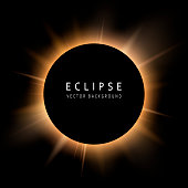 Solar eclipse on a black background. Place for text