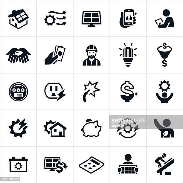 Iconos de energía Solar