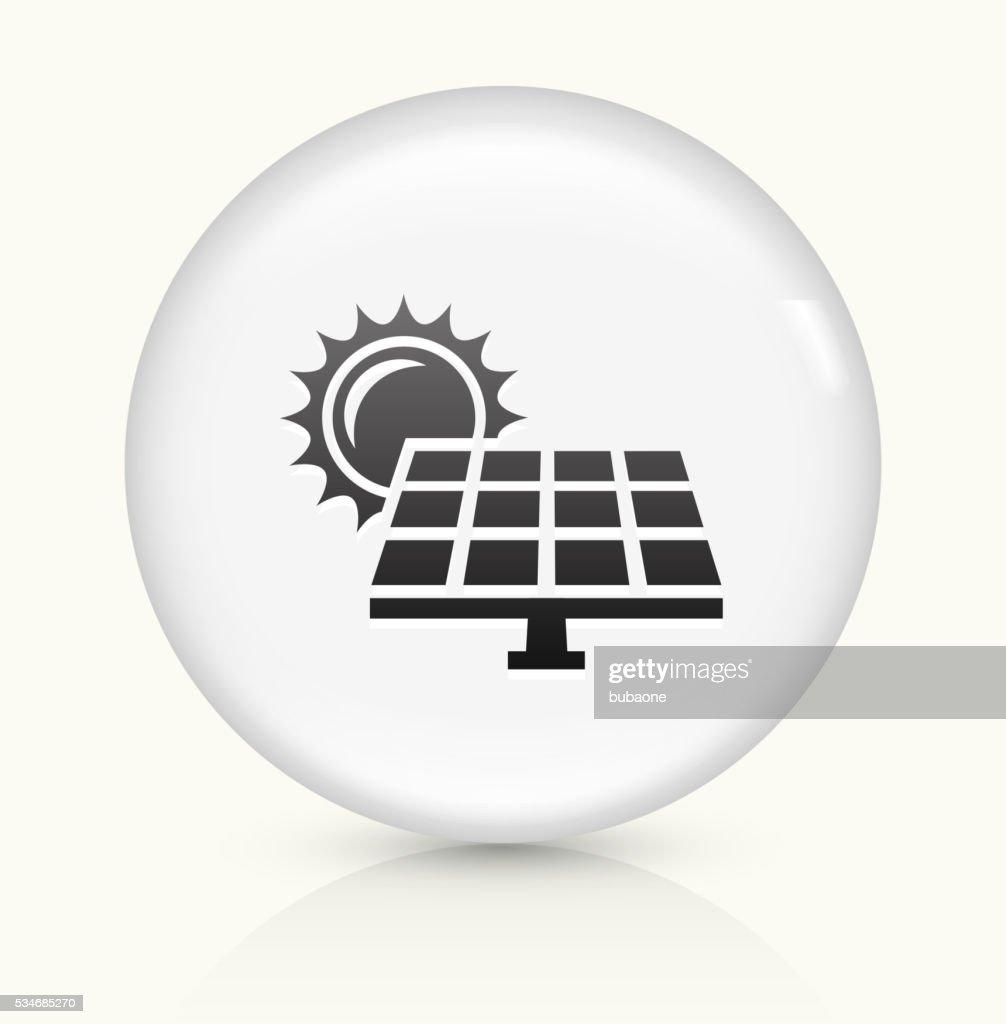 Solar Panel Icon On White Round Vector Button Vector Art