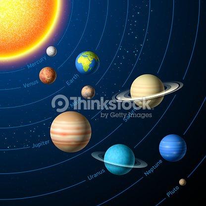 Solar System Planets Vector Art | Thinkstock