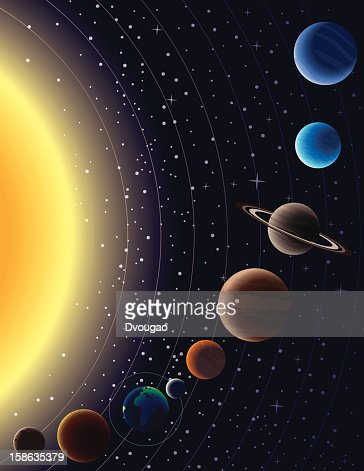 Solar system vector art getty images