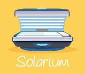 Solarium. Vector flat cartoon illustration