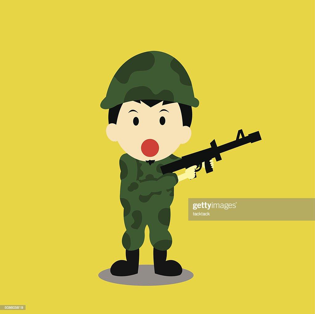 vector mulher Soldado : Arte vetorial