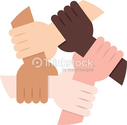 Solidarity Circle on White Background : stock vector
