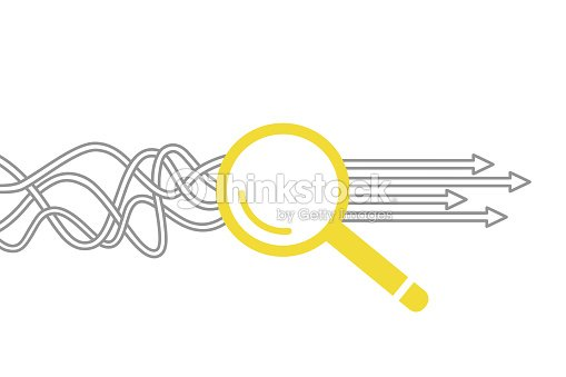 Solution Concept with Magnifying Glass : stock vector