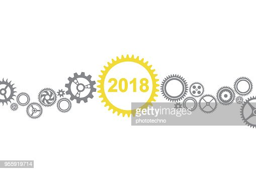Solution Concepts New Year 2018 : Vector Art
