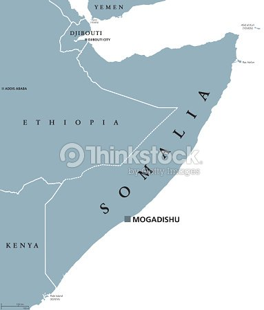 Somalia Political Map stock vector | Thinkstock