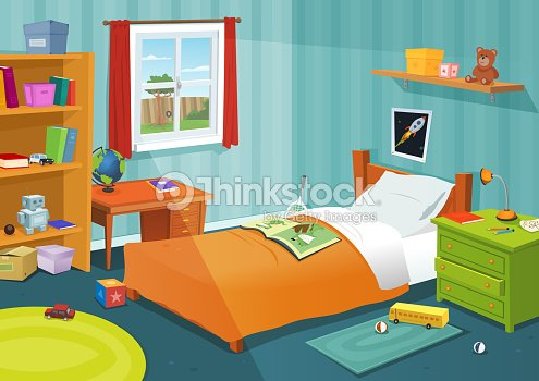 some kid bedroom vector art thinkstock. Black Bedroom Furniture Sets. Home Design Ideas