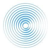 Sound wave background. Radio station signal. Vector illustration