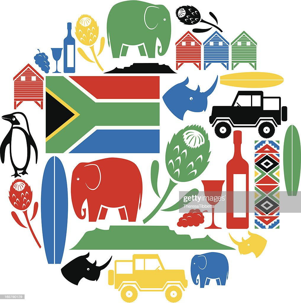 South Africa Icon Montage Vector Art Getty Images