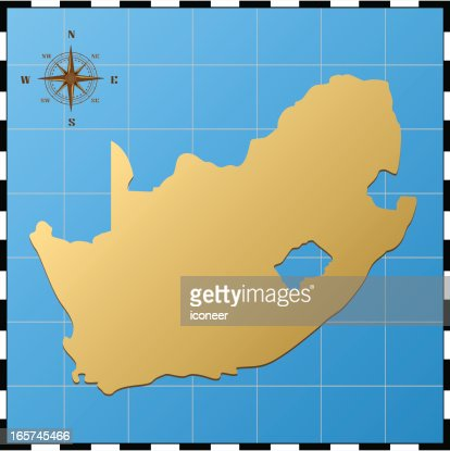 south africa map with pass rose vector art ty images