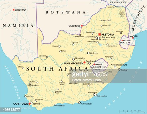 south africa political map vector art thinkstock