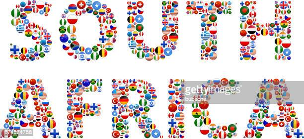 South Africa World Flags Vector Buttons