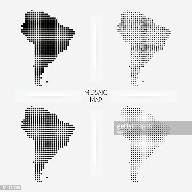 Südamerika-Karten-Mosaik squarred und Pünktchen