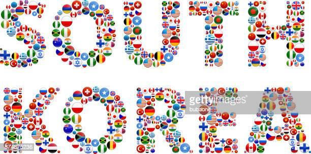 South Korea World Flags Vector Buttons