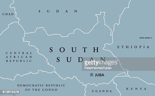 Political Map Of South Sudan.South Sudan Political Map Vector Art Thinkstock