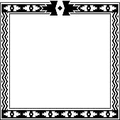 Southwestern/Native American style border.  Edges and corner pieces are separate and can be easily adjusted to change the dimensions.