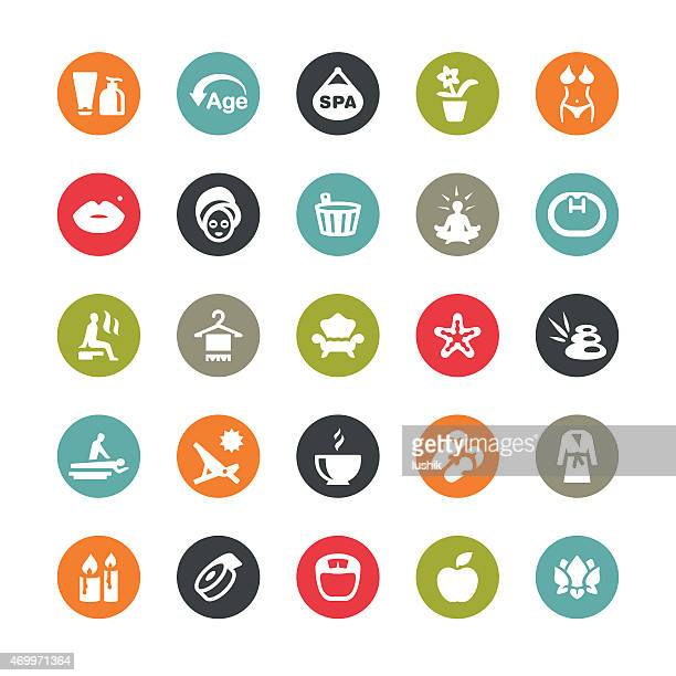 Spa and Beauty related vector icons / Ringico series