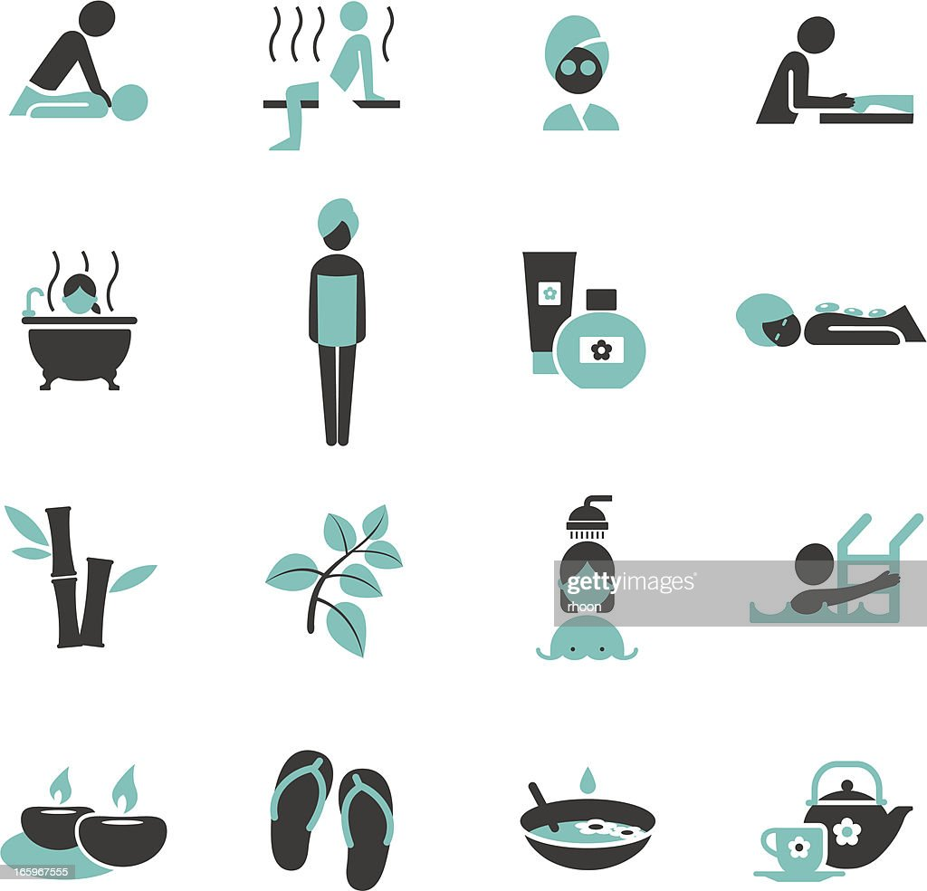 Spa and Wellness icons. : Vector Art