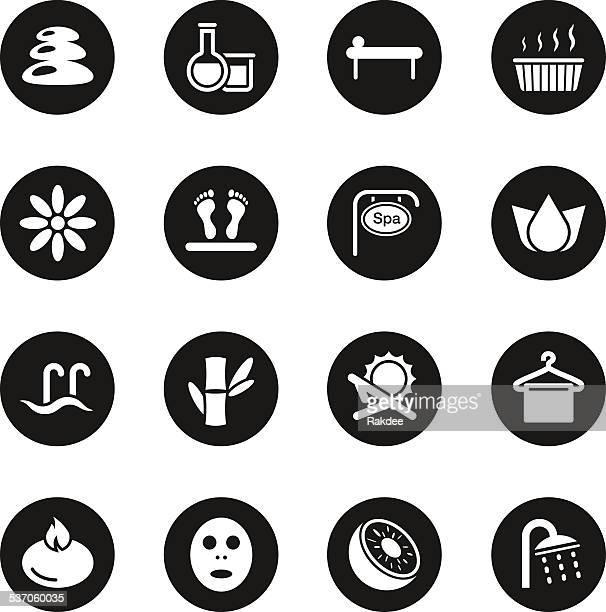Spa Icons - Black Circle Series