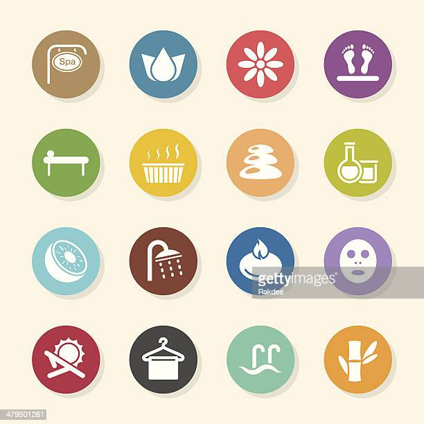 Spa Icons - Color Circle Series