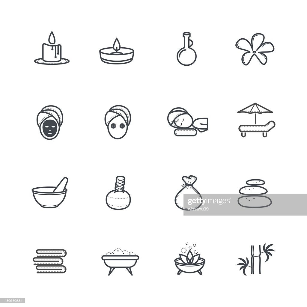 Spa Icons : Vector Art