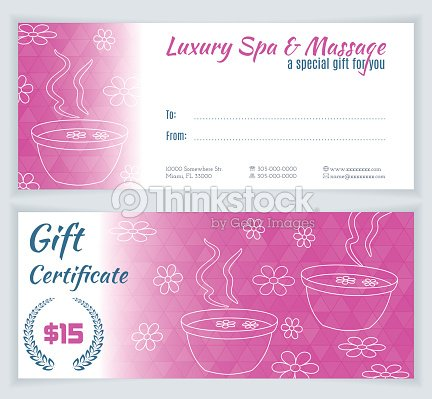 Spa massage gift certificate template vector art thinkstock spa massage gift certificate template vector art yadclub Gallery