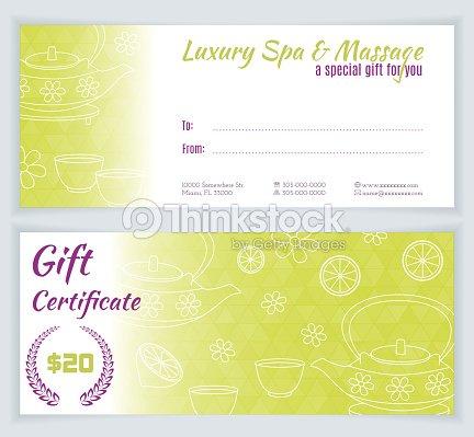 Spa Massage Gift Certificate Template Vector Art Thinkstock